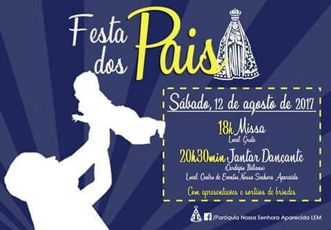 Comunidade Católica vai comemorar dia dos pais com Jantar dançante