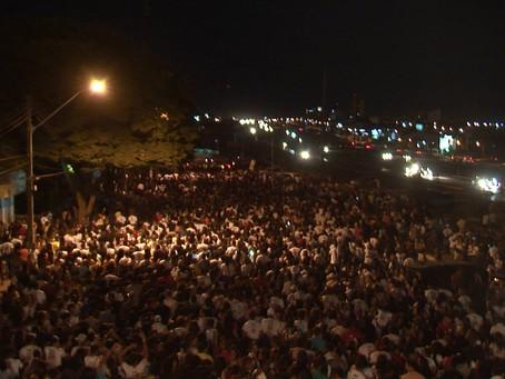 Multidão lota ruas de LEM na 10ª Marcha para Jesus