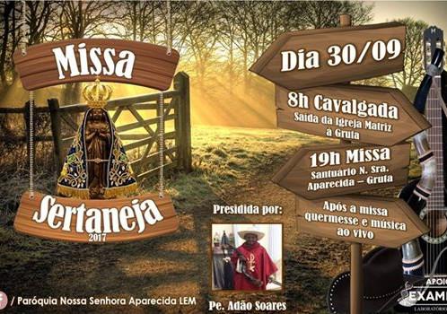 Missa Sertaneja acontece neste sábado em Luís Eduardo Magalhães