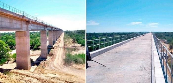 Ponte sobre o Rio São Francisco com 2900m de comprimento, localizado entre os municípios de Serra do Ramalho e Bom Jesus da Lapa | Fotos: Valec