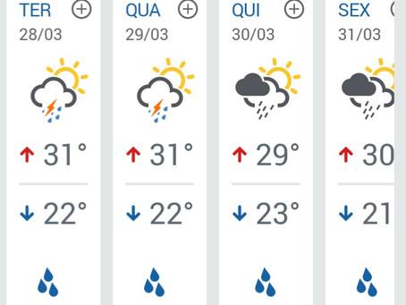 Chuva volta a cair em LEM, confira a previsão para toda a semana