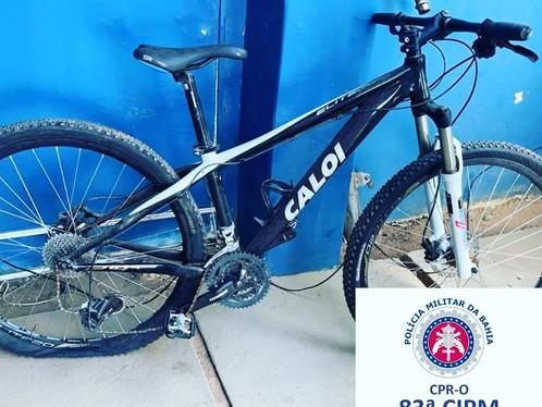 Bike avaliada em mil reais é recuperada pela 83ª CIPM