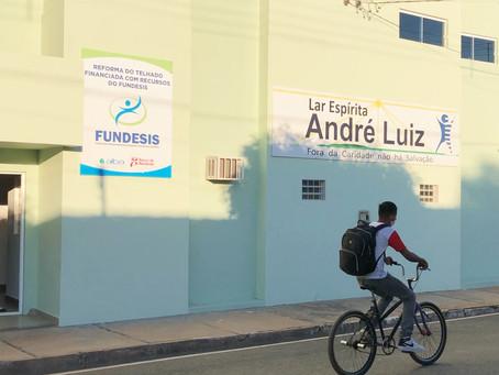 Fundesis inaugura construção de cobertura do Lar Espírita André Luiz