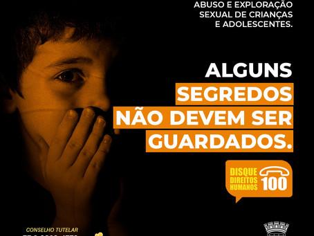 A violência e a exploração sexual contra crianças e adolescentes matam a infância; Denuncie