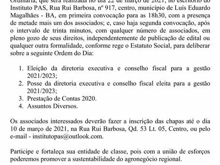 Edital de convocação - PAS