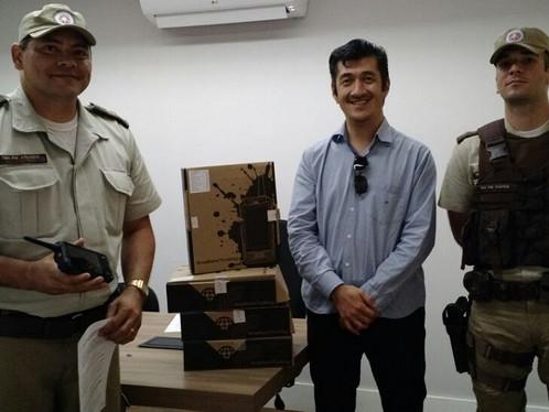Prefeitura de LEM equipa Polícia Militar com rádios comunicadores de tecnologia 4G
