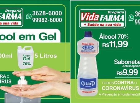 Drogaria Vida Farma - Peça o seu álcool gel - Delivery