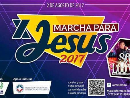 10ª Marcha pra Jesus acontece nesta quarta em LEM