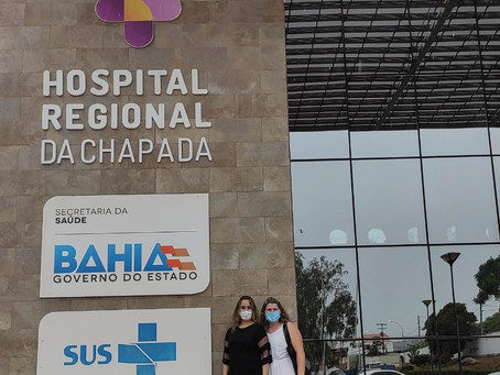 Equipe de Saúde visita instalações do Hospital da Chapada