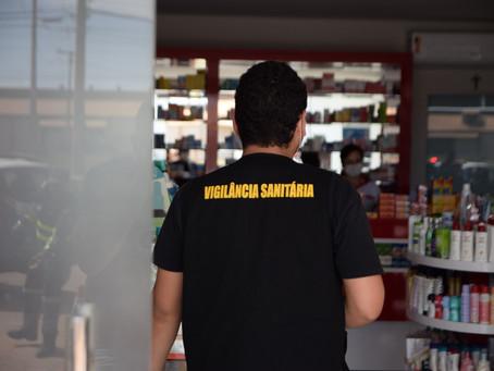 LEM: Fiscais da Vigilância Sanitária atuam no cumprimento do decreto Estadual