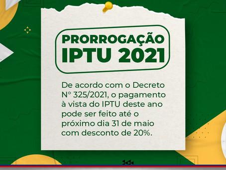 LEM: Prefeitura prorroga pagamento do IPTU com desconto de 20% até o dia 31 de maio