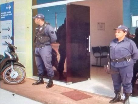 Após assalto Guardas Municipais fazem segurança em Posto de Saúde na Cidade Universitária