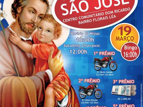 Novena de São José começa amanhã no Santa Cruz, festa terá bingo e churrasco, confira!