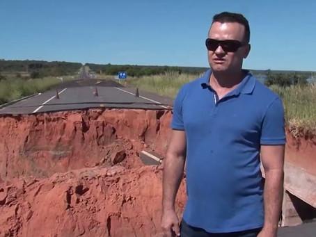 Cratera na BR 020 deve demorar pelo menos dois meses para ser tapado, obra ainda não começou