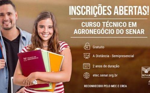 LEM: Totalmente gratuito, Curso Técnico em Agronegócio está com inscrições abertas