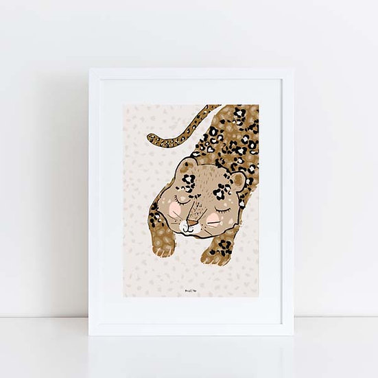 Pea & Me Lola the Leopard Print A5 A4 A3 (Unframed)