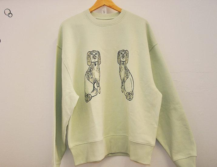 PRP Unisex Stem Green Oversized 90's Sweatshirt. Spaniels