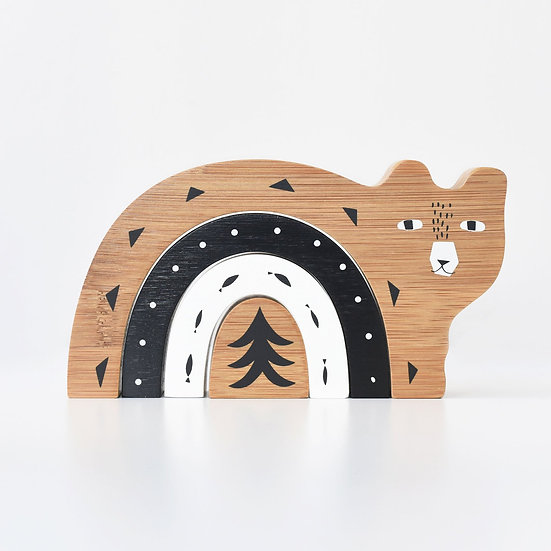 Wee Gallery Bamboo nesting snail/bear