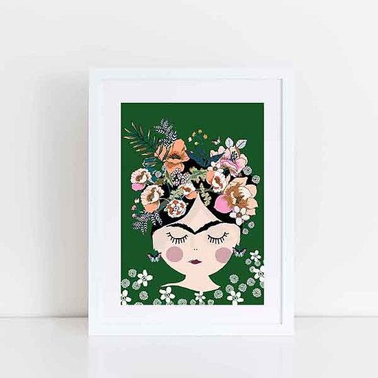 Pea & Me Frida Print A4 (Unframed)