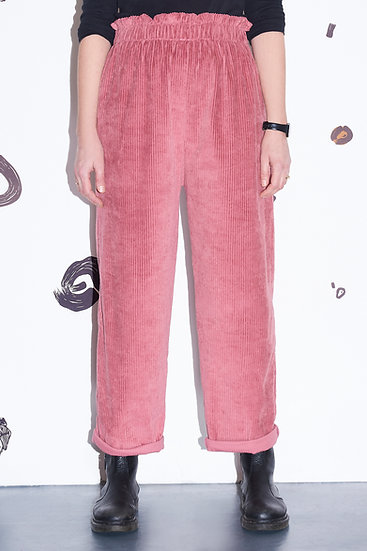 Suzie Smith Soft Cord Trouser in Pink, Mole or Black