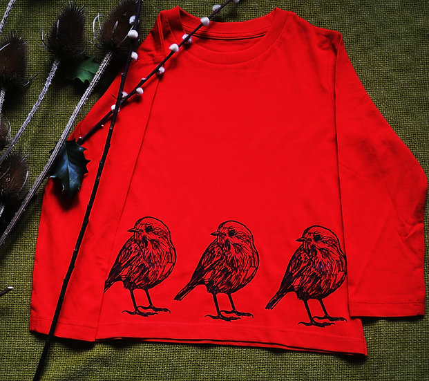 Punk Rock Penguin Red Robin Long Tee