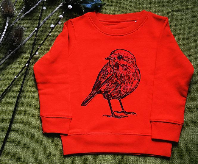 Punk Rock Penguin Red Robin Sweatshirt