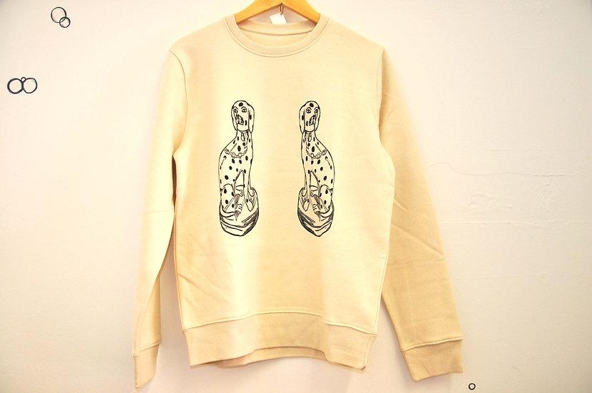 PRP Unisex Raw, Classic Fit Sweatshirt. Dalmations