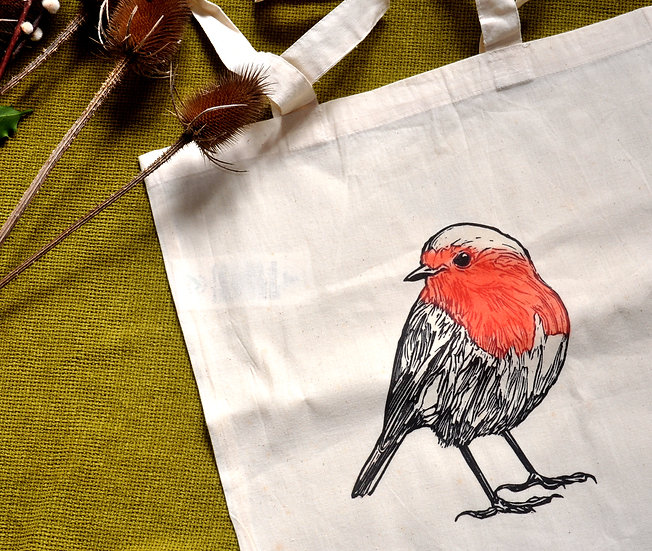 Punk Rock Penguin Robin Tote Bag