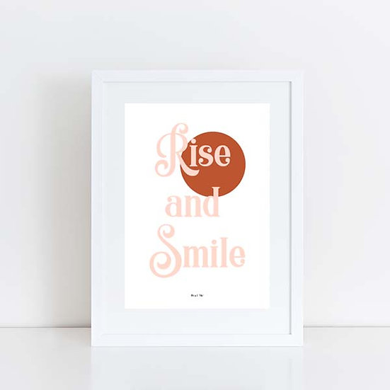 Pea & Me Rise & Smile Print A4 or A3 Print (Unframed)