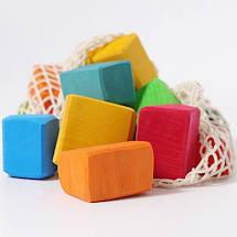 Grimms 15 Coloured Waldorf Blocks