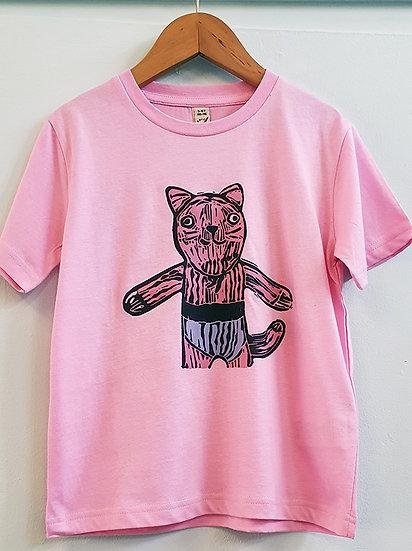 PRP Tee Pink Cat