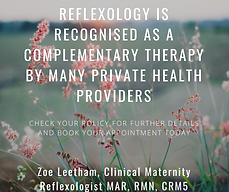 REFLEXOLOGY IS RECOGNISED AS A COMPLEMEN