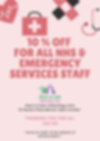 10 % OFF FOR ALL NHS & EMERGENCY SERVICE
