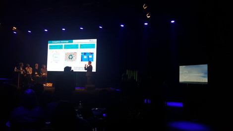 CustoMem presenting at SLUSH as Top 10 of Climate KIC's Venture Cup