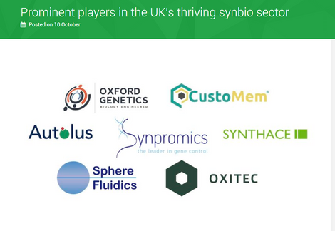 Prominent players in UK synbio sector, CustoMem included