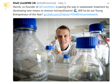 CustoMem announced as Finalist of Shell LiveWIRE Young Entrepreneur of the Year