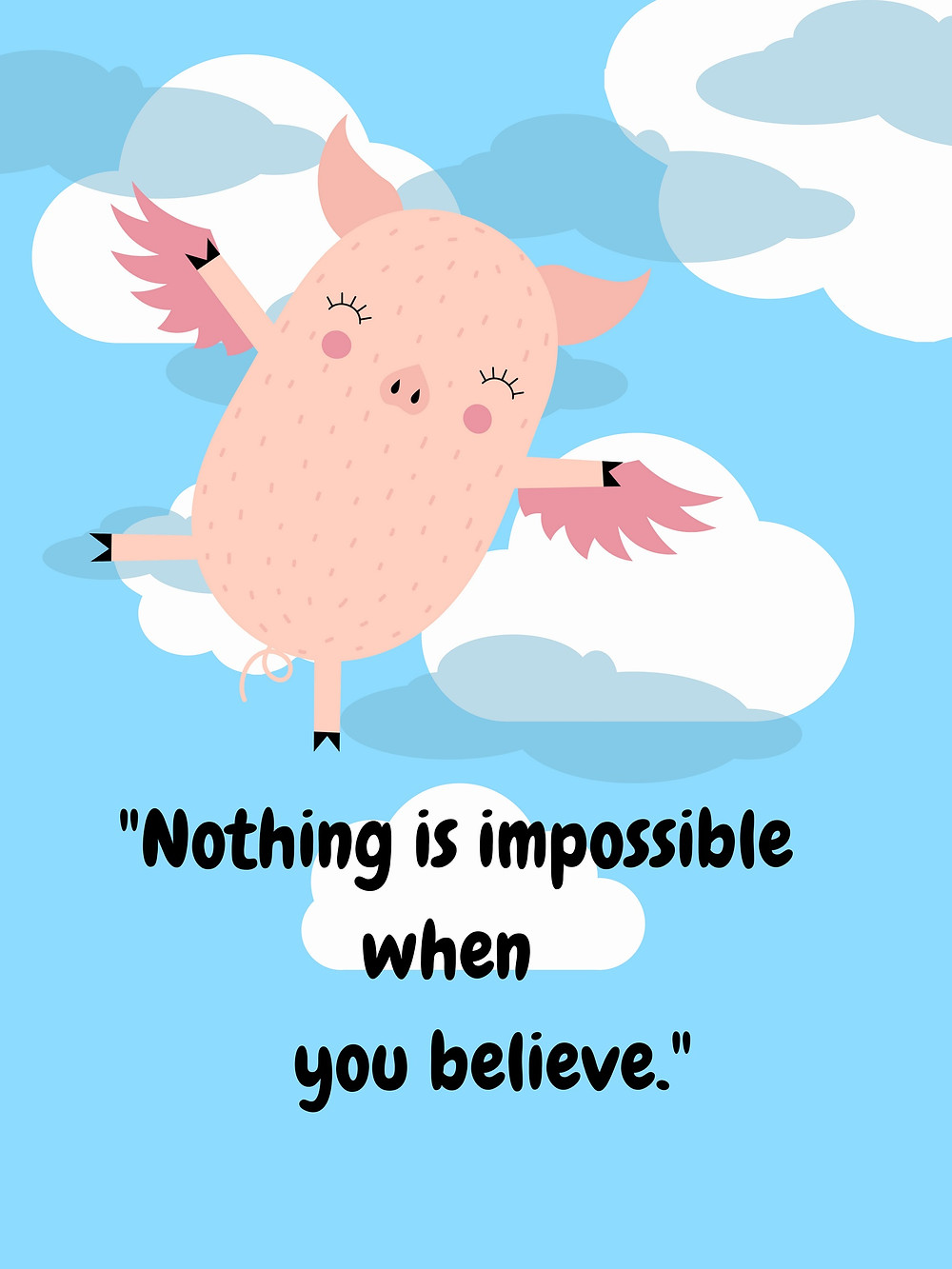 Growth Mindset Poster Educational Resource Flying Pigs When Pigs Fly Miss Cat's Classroom TPT Teachers Pay Teachers Classroom Decor Precept Precepts Inspirational Quote Motivational Quotes for Teachers Ontario