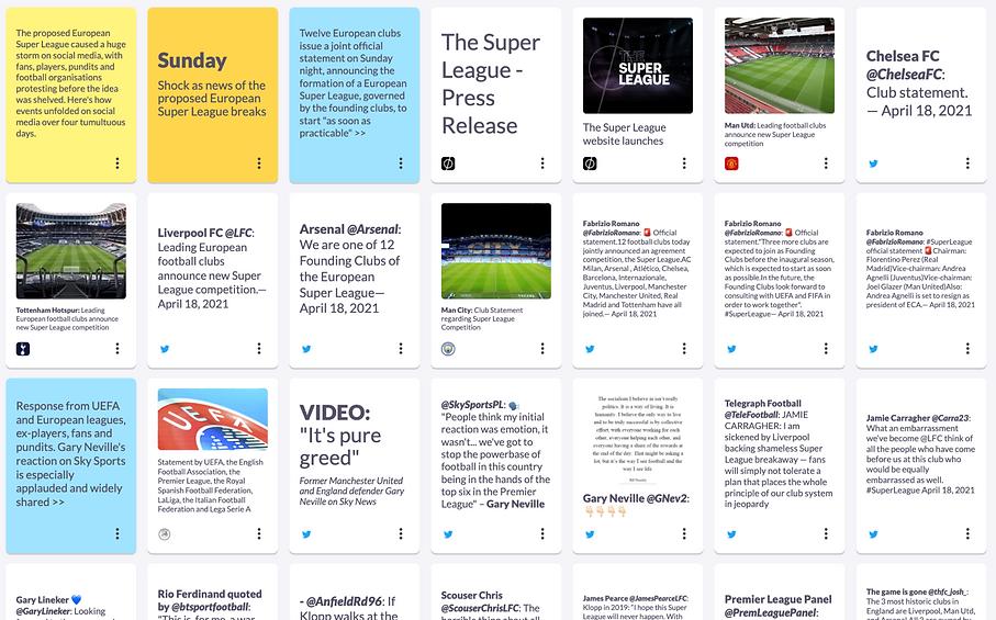 European Super League: following a fast-moving story