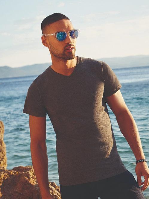 T-shirt Uomo Collo a V + Stampa
