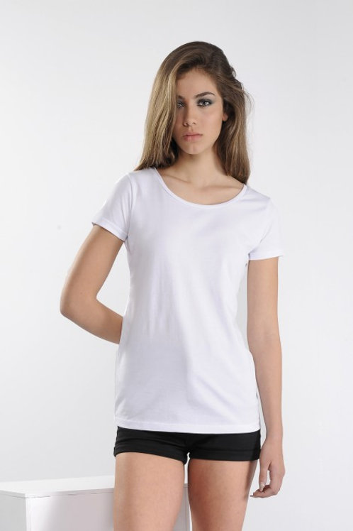 T-shirt Donna Vesti Cucitura Verticale Posteriore + Stampa