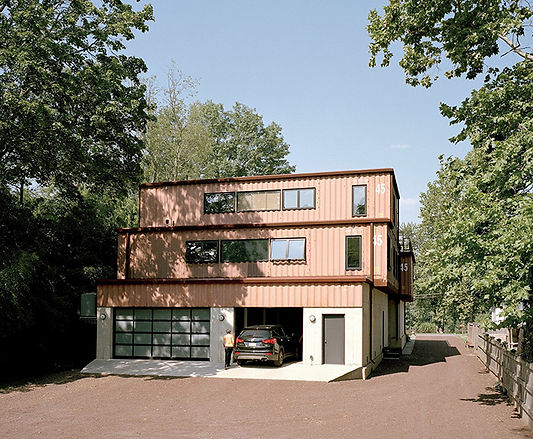 The shipping container garages