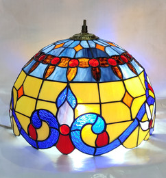 Blue and Yellow Motif Lampshade