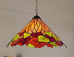 Maple leaves Lampshade Infused with Painting and Firing