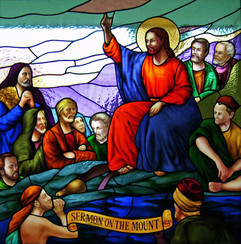 Sermon on the Mount, stained glass window