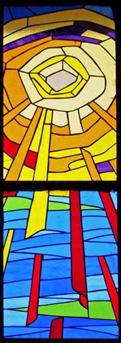 stained glass church window Tamil Nadu