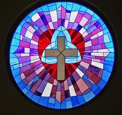 Circular church window, Bangalore