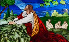 Garden of Gethsemane stained glass window