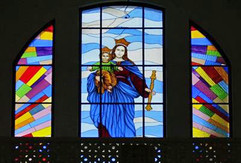 large stained glass window for church in Andhra Pradesh