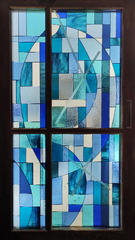 Abstarct Panel With Shades Of Blue