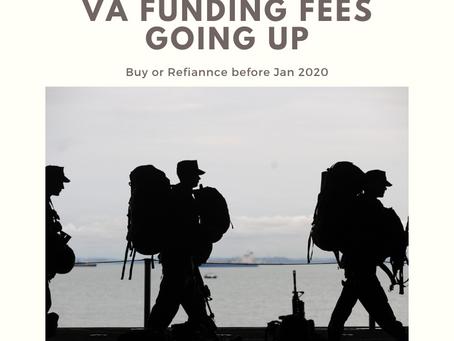VA Funding Fee's going up Jan 2020